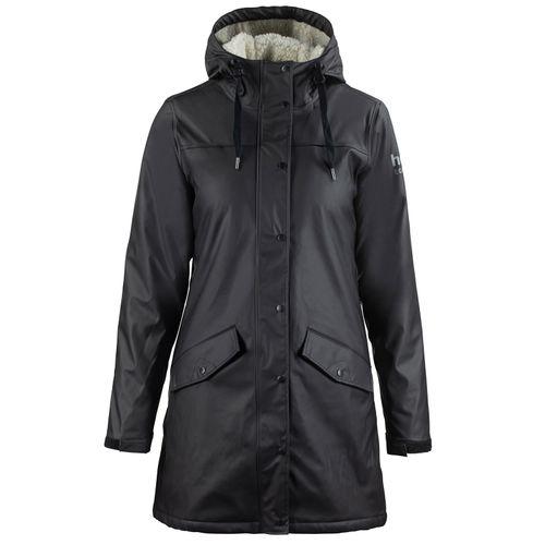 Horze Women's Billie PU Rain Jacket with Fleece - Black