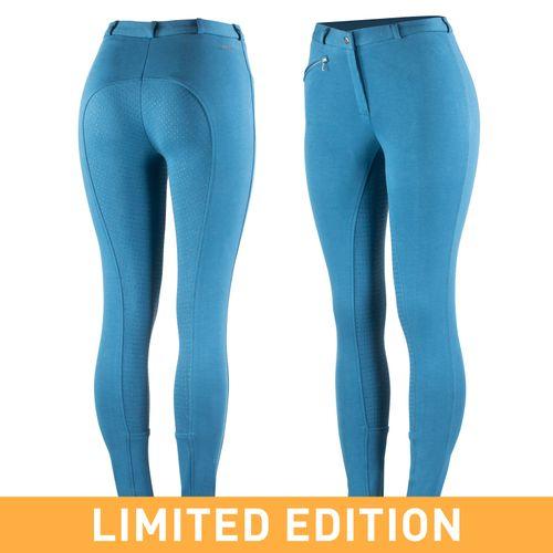 Horze Women's Active Full Seat Breeches - Dark Blue