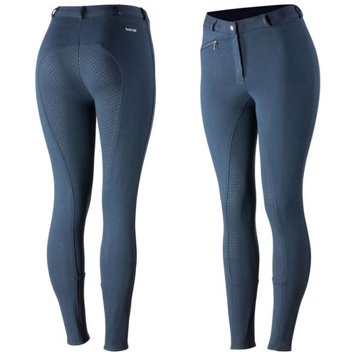 Horze Women's Active Full Seat Breeches - Peacoat Dark Blue