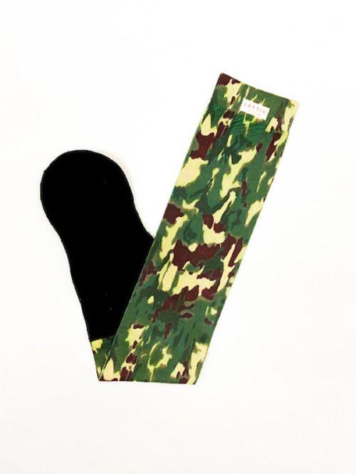 Lettia Women's Padded Boot Socks Three Pack - Camo