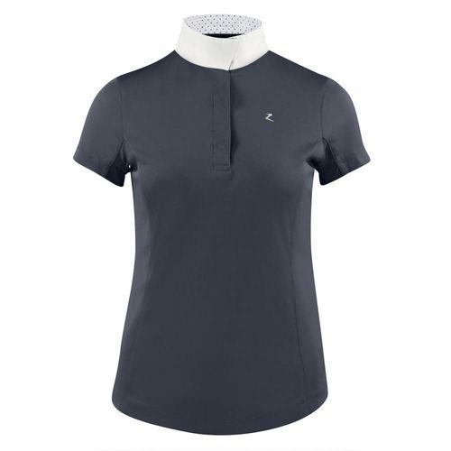 Horze Women's Blaire Short Sleeved Sun Show Shirt - Dark Navy