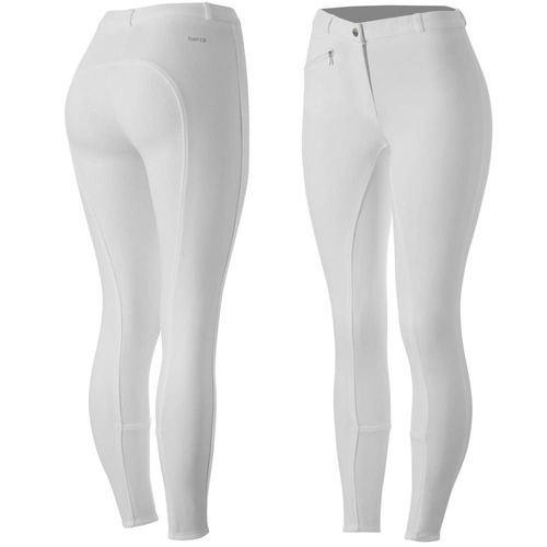 Horze Women's Active Full Seat Breeches - White