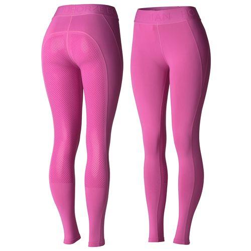 Horze Women's Madison Full Seat Tights - Super Pink