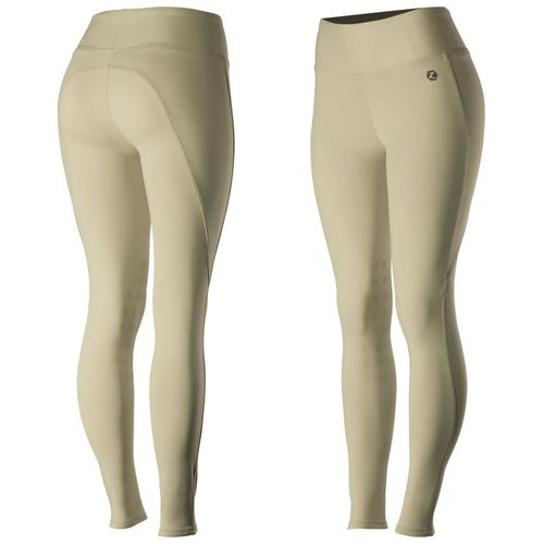 Horze Women's Juliet HyPer Flex Knee Patch Tights - Tan