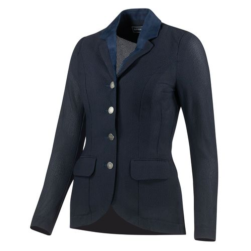 B Vertigo Women's Gabrielle Mesh Show Jacket - Navy Dark Blue