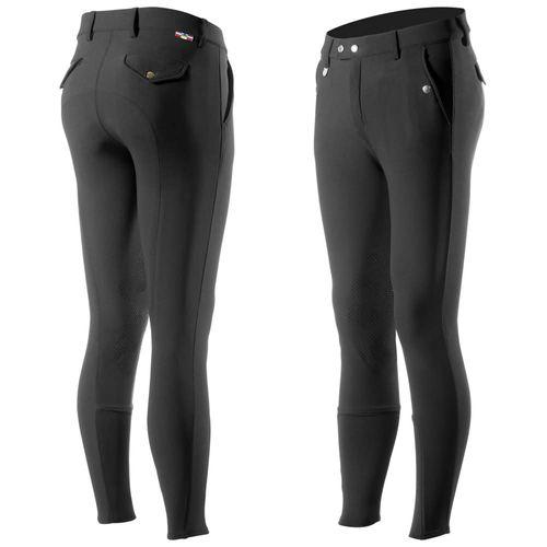Horze Men's Grand Prix Knee Patch Breeches - Black