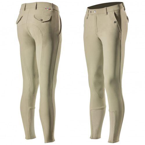 Horze Men's Grand Prix Knee Patch Breeches - Tan