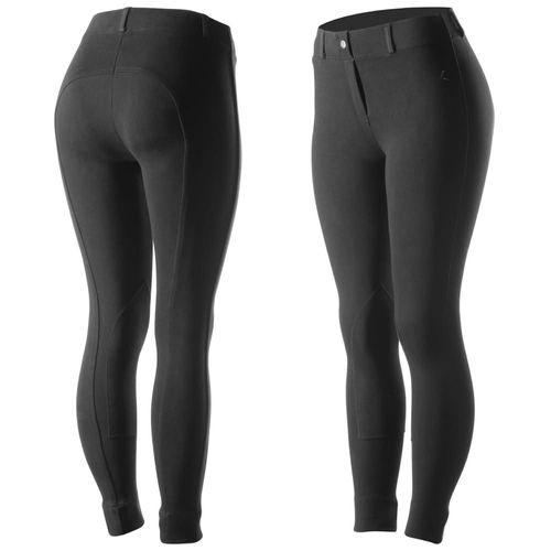 Horze Women's Ella Pull Up Knee Patch Tights - Black