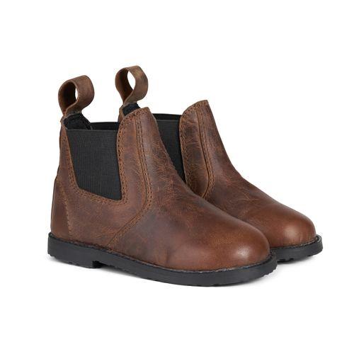 Horze Kids' Derby Toddler Paddock Boots - Light Brown