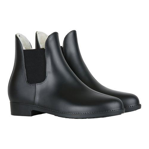 Horze Bonn Rubber Paddock Boots w/Faux Fur Lining - Black