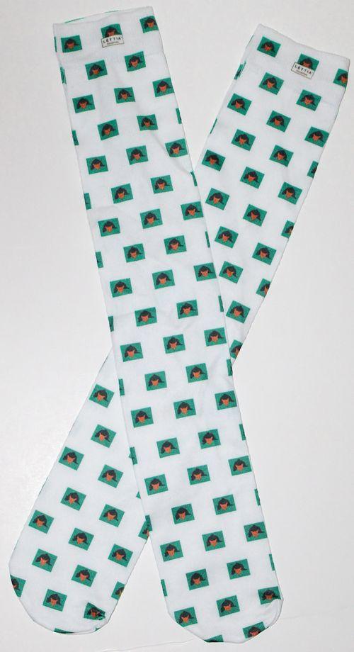 Lettia Women's Boot Socks - White Fox Mask