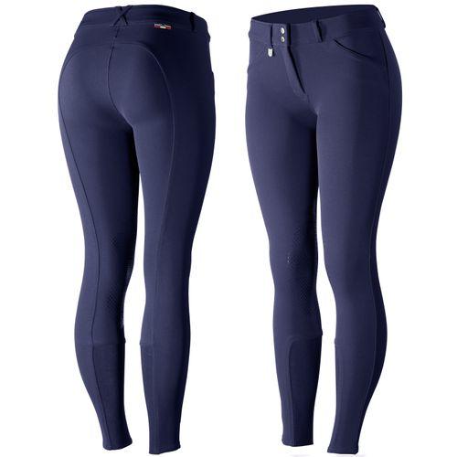 Horze Women's Grand Prix Knee Patch Breeches - Patriots Blue