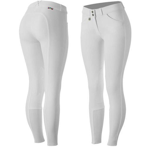 Horze Women's Grand Prix Knee Patch Breeches - White