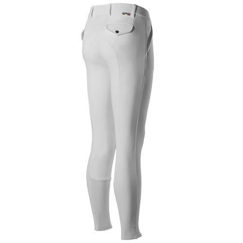 Horze Men's Grand Prix Knee Patch Breeches - White