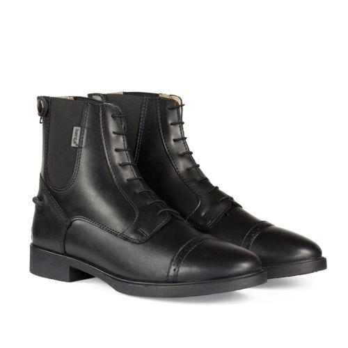 Horze Kids' Kilkenny Polyurethane Jodhpur Boots - Black