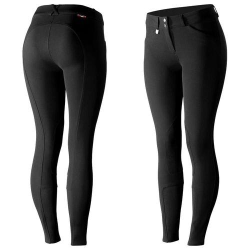 Horze Women's Grand Prix Knee Patch Breeches - Black