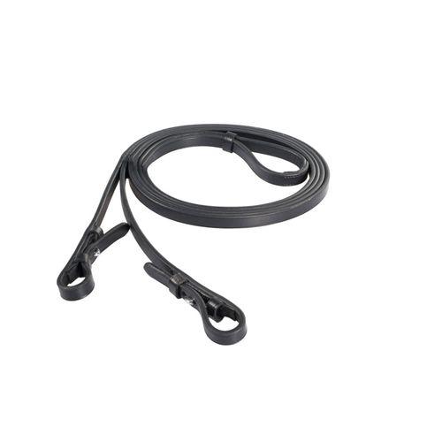 Horze Laelia Plain Leather Dressage Reins - Black