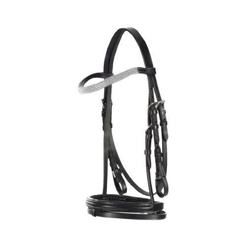 Horze Pony Flash Bridle - Black/White