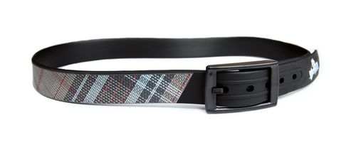 Kensington Plaid Rubber Belt - Black