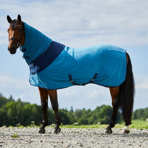Horze Turin Combo Fleece Blanket - Petrol Blue