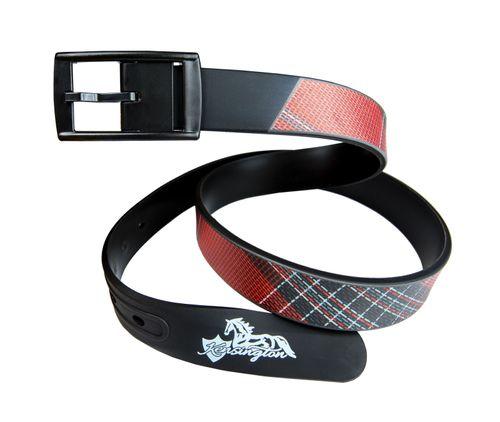 Kensington Plaid Rubber Belt - Deluxe Red