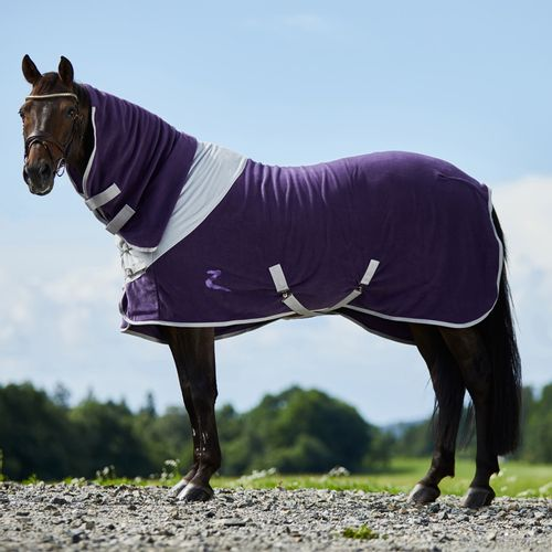 Horze Turin Combo Fleece Blanket - Purple