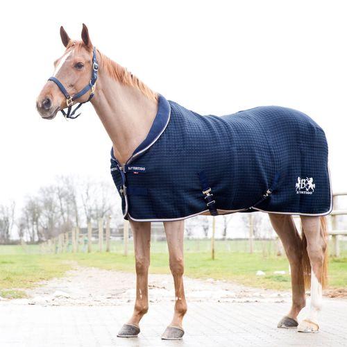 B Vertigo Theo Thermo Wool Blend Stable Blanket/Cooler - Dark Navy