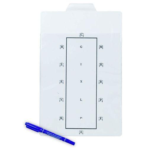 Horze Learner Dressage Test Board - White