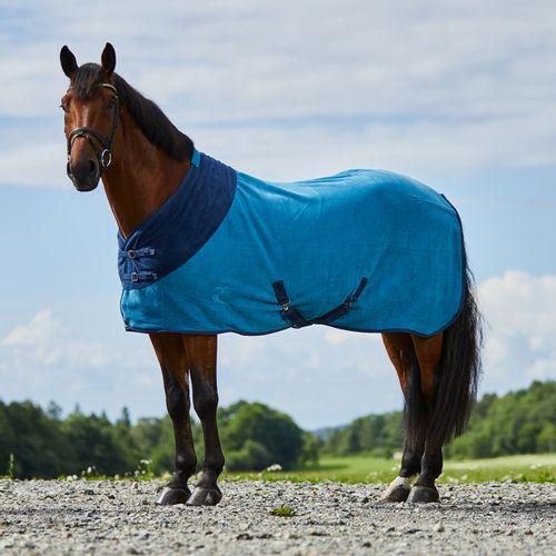 Horze Turin Fleece Blanket - Petrol Blue