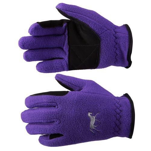 Horze Kids' Fleece Gloves - Sultry Violet