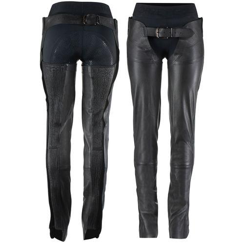 Horze Blake Leather Full Chaps - Black