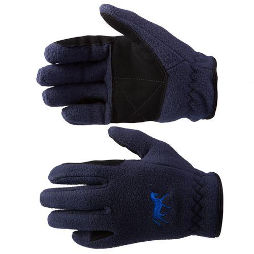 Horze Kids' Fleece Gloves - Dark Navy