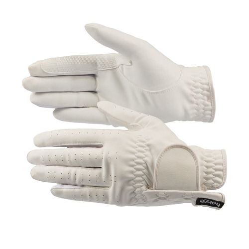 Horze Eleanor Flex Fit Riding Gloves - White