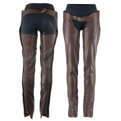Horze Blake Leather Full Chaps - Dark Brown