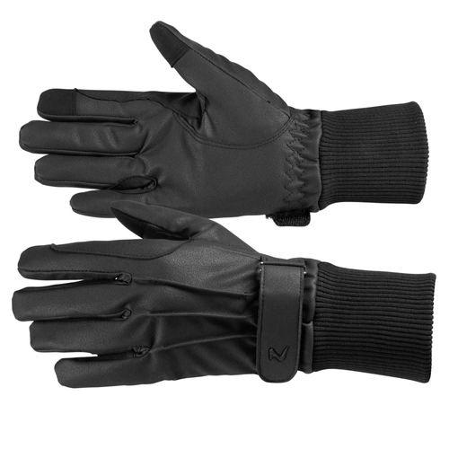 Horze Polyurethane Fleece Lined Riding Gloves - Black