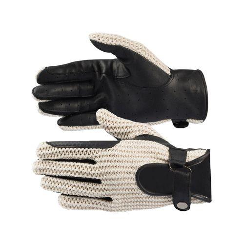 Horze Crochet Gloves - Black/Off White