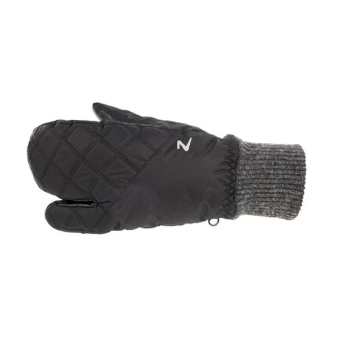Horze Padded Three Finger Winter Mittens - Black