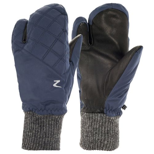 Horze Padded Three Finger Winter Mittens - Peacoat Dark Blue