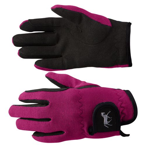 Horze Kids' Stretch Gloves - Byzantine Pink