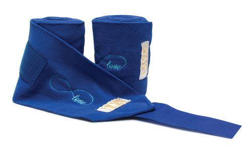 Lettia Embroidered Polo Wraps - Blue/Infinity Love