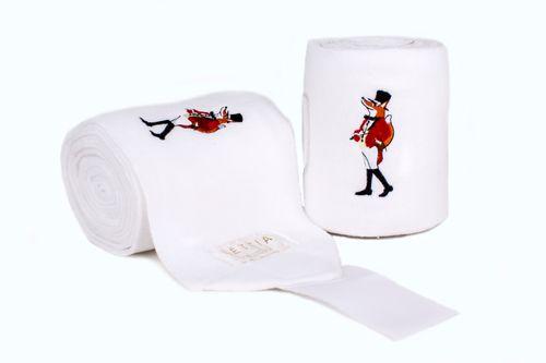 Lettia Embroidered Polo Wraps - White/Snooty Fox