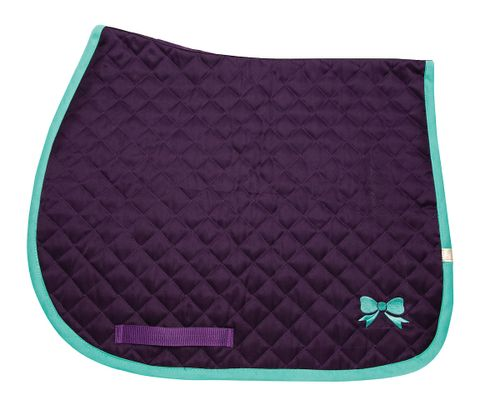 Lettia Embroidered Baby Pad - Purple/Bows