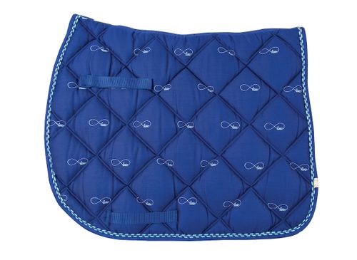 Lettia Embroidered All Purpose Pad - Blue/Infinity Love