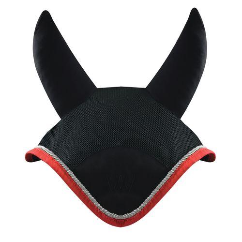 Woof Wear Ergonomic Ear Net - Black/Royal Red