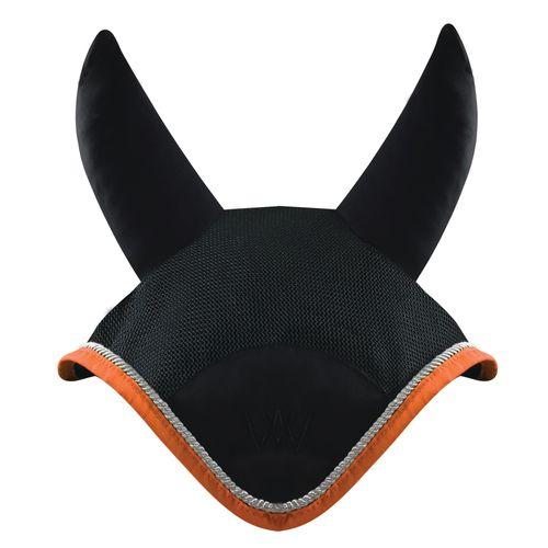 Woof Wear Ergonomic Ear Net - Black/Orange