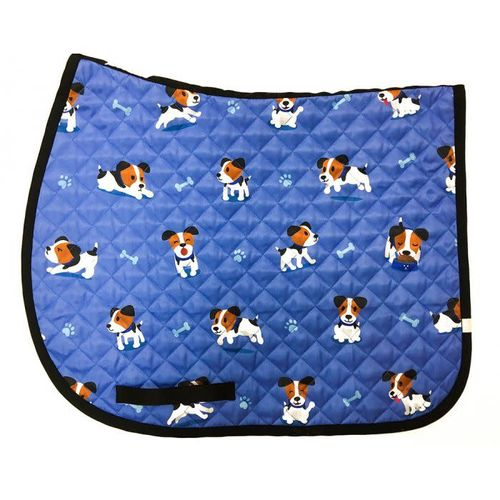 Lettia Print Baby Pad - Blue Puppy Print