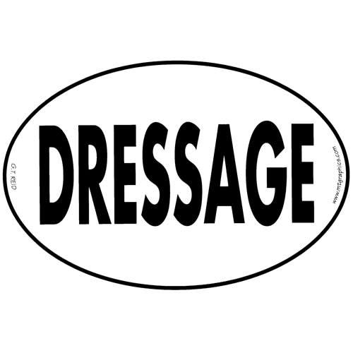 GT Reid Euro Decal Set of Three - Dressage