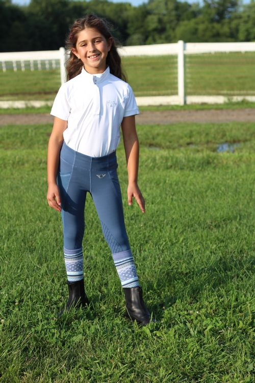 Equine Couture Kids' Cara Short Sleeve Show Shirt - White