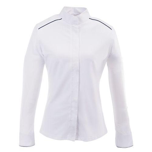 Ovation Women's Long Sleeve Performance Shirt - White/Navy