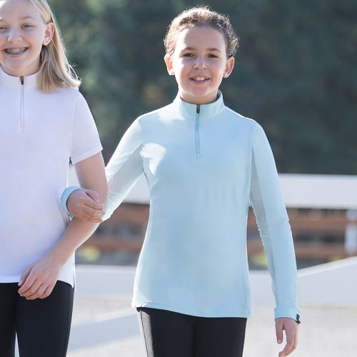Irideon Kids' CoolDown IceFil Long Sleeve Jersey - Energy Blue
